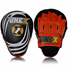 Rex Leather Focus Pads,Hook and Jab Mitts,MMA Kick Boxing Muay Thai Sparring Mit