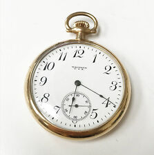 Waltham U.S.A. Size 12S 1920 7 Jewels Gold Filled Pocket Watch Antique Running