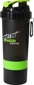 StartLine 600ml Protein Shaker Bottle Green Leakproof Lid Exercise Gym Workout