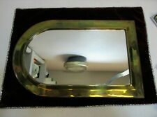 "Vintage Brass Mirror Wall Large Hanging 16 3/4"" x 10 3/4"" Collectible Home Decor"