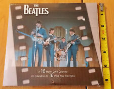 """The Beatles:Mini Calendar 16 month 2014 NEW & SEALED 7"""" x7"""" Color Photos MEAD"""