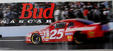 Vtg 1995 Budweiser beer #25 Race Car Racing Poster Nascar Sign stock car