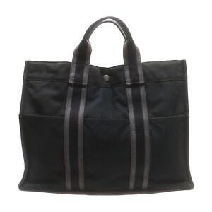 Hermes Tote Bag  Black Canvas 1528995