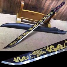 Hand Forged Chinese Longquan Sword Broadsword High Manganese Steel Sharp Blade#9