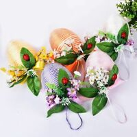 Elegant Design Floral And Pearl Decorative Easter Eggs Bubble Foam Hanging Style