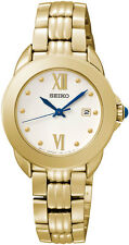 Seiko SXDF64 SXDF64P1 Ladies Watch Gold WR50m NEW RRP $425.00