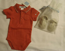 Janie and Jack Boys Preemie Up To 7 Lbs Bodysuit Size 0 Sandals Shoes Outfit NWT