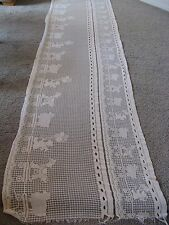 Lace White Nursery Window Valance Horse Sheep Bear 127x32
