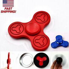 Red Alloy Tri Hand Spinner Fidget Bearing Desk Ceramic EDC Focus Toy Finger Gyro