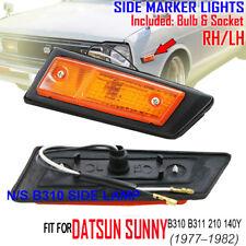 For NISSAN DATSUN SUNNY B310 SERIES B311 VB312 PAIR SIDE LAMP MARKER LIGHT 77-81