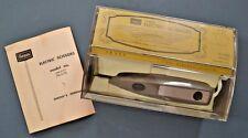 Vintage Sears 3 Speed Electric Fabric Scissors Model 344-2177 Original Case
