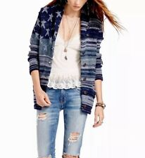 d27d23ca72 NWT RALPH LAUREN DENIM SUPPLY WOMENS COTTON FLAG KNOT SWEATER CARDIGAN