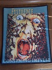 PESTILENCE,CONSVMING IMPVLSE,LARGE BACK PRINTED PATCH
