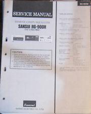 SANSUI RG-900R égaliseur service repair workshop manual (original)