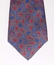 Image by Tootal Paisley tie British made grey red and blue SMALL STAIN