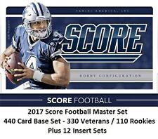 2017 SCORE FOOTBALL MASTER SET - BASE SET PLUS 12 INSERT SETS - 640 CARDS