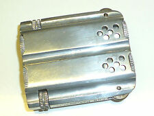 Vintage Duplex Aluminium Lighter-Double Barrel-Massif Aluminium-Angleterre