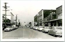 """ENUMCLAW, Washington RPPC Real Photo Postcard """"STREET SCENE"""" Ellis #3417 Unused"""