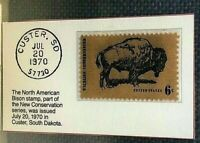 1970 North American Bison 6 Cent Stamp GMA Mint 9