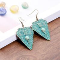 Vintage Antique Bronze Bohemia Geometric Ethnic Dangle Women Gypsy Earrings