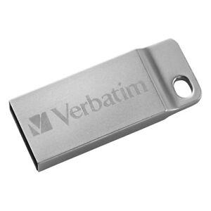 Verbatim 16gb Metal Executive Usb Flash Drive - Silver - 16 Gbusb 2.0 - Silver
