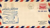 USA HELICOPTER AIR MAIL 1st FLIGHT Cover Oct, 1,1947 CALIFORNIA. - NEW YORK