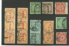 CHINA - 1898 - DRAGONS - COLLECTION OF 15 STAMPS - VERY GOOD USED - HIGH CAT. £