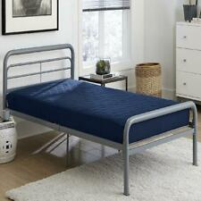 Mattress Value 6 Inch Polyester Filled Quilted Top Bunk Bed Mattress, Twin, Navy