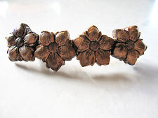Real wood wooden flower hair claw clamp clip barrette