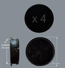 set 4 Borchie coprimozzo adattabili Ø 50 mm innesto 42 per cerchi in lega