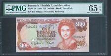 BERMUDA $100 P49 1989 PMG 65 Gem Unc Low serial No 232