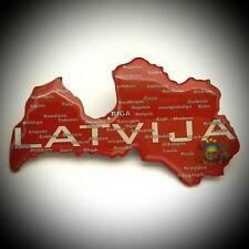 Fridge Magnet Latvia Map Huge Travel Tourist Souvenir Collection & Gift M900