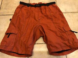 Hoss Ponderosa Cycling Shorts Padded Chamois Liner Men's XL X-Large Orange Black