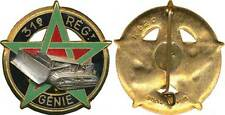 31° Régiment du Génie, BULL, émail, dos lisse embouti,Drago 620 (2576)