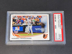 2013 Topps Update PSA 10 Manny Machado RC Rookie On Fire!!!