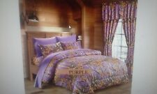 4 PIECE    TWIN   PURPLE    THE WOODS COMFORTER SET