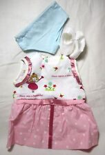 Doll Clothes 18 inch, Fit American Girl Dress Panties Shoes Pink White PRINCESS