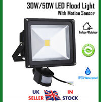 30W / 50W Cool White LED Security Floodlight Sensor Outdoor Flood Light IP65