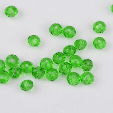 Green Faceted 100pcs Rondelle exquisite crystal 3x2mm Chinese Beads