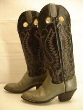 Mens 8 D M Panhandle Slim Boots Buckaroo Bullhide leather black gray knee high