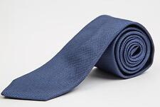 """Louis Vuitton NWT Dark Saphire Blue Mesh Textured 100% Silk Skinny Tie 2.75"""""""