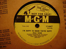 PROMO MGM 78 RECORD 11447/JILLA WEBB/THERE IS POISON IN HEART/I'M HAPPY TO /VG+