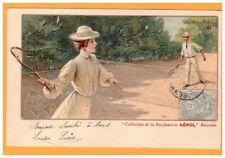 Publicité PARFUMERIE / XEROL / PRODUIT de BEAUTE / FEMME au TENNIS Art Nouveau