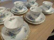 duchess forget me not bone china 642 made in england 18 piece tea set xclt cond
