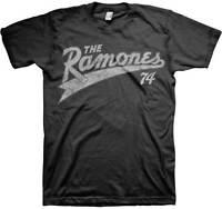 The Ramones 1974 Team Original Band Classic Punk Rock Music Guitar Mens Shirt