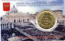 NEW !!! Euro VATICANO 2015 COIN CARD 50 CENT in Folder Ufficiale