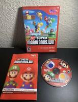 New Super Mario Bros Wii Game Complete W/ Manual Case Disc Tested Nintendo Cib