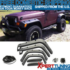 Fits Jeep Wrangler Tj 1997-2006 Fender Flares POCKET Style ABS Protector 6Pcs