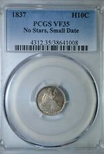 1837 Seated half dime, No Stars small date, PCGS VF35