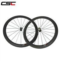 25mm Width U shape 50mm Clincher carbon road racing wheelset